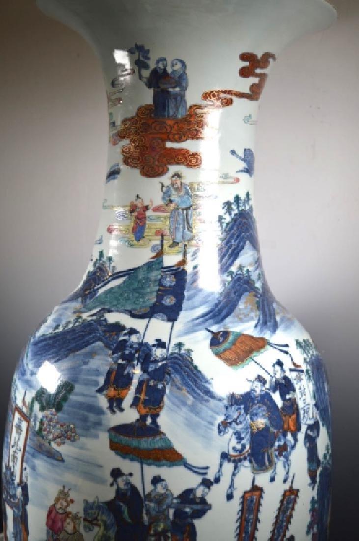 Very Large Chinese 19 C Doucai Porcelain Vase - 4