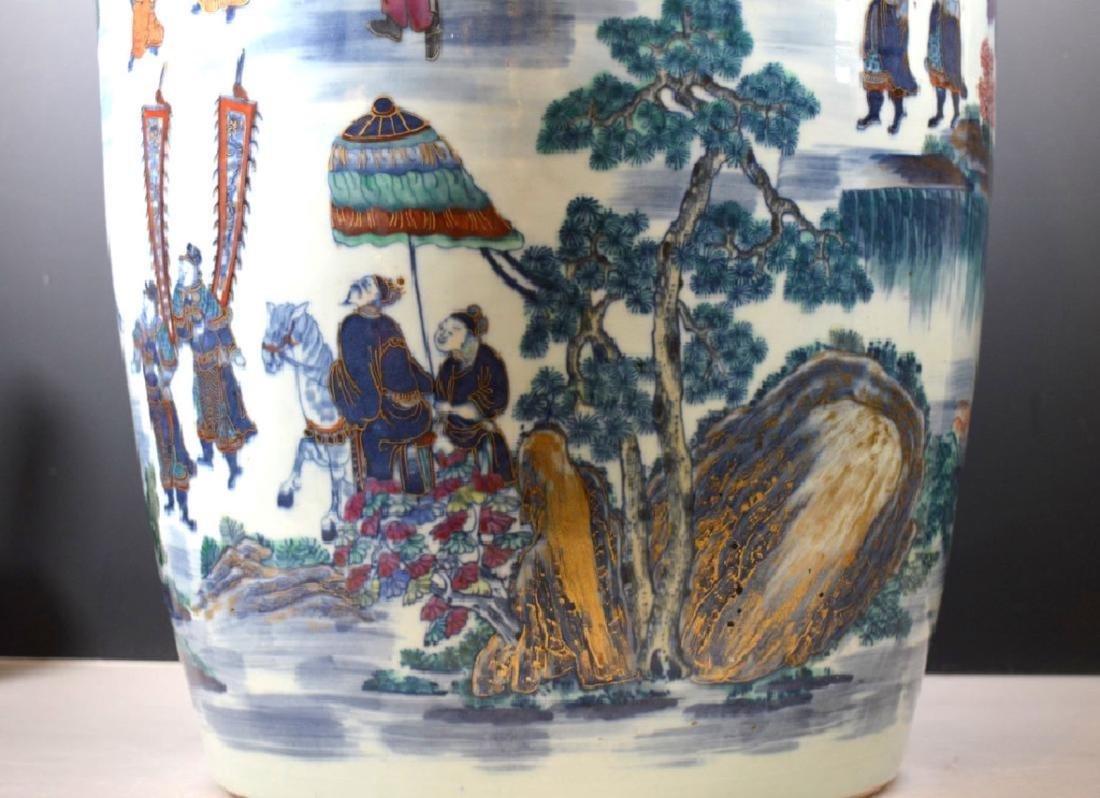 Very Large Chinese 19 C Doucai Porcelain Vase - 5