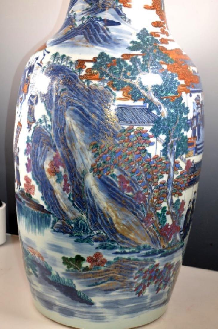 Very Large Chinese 19 C Doucai Porcelain Vase - 6