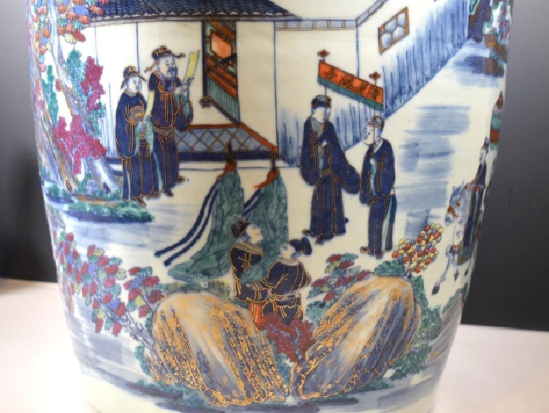 Very Large Chinese 19 C Doucai Porcelain Vase - 7