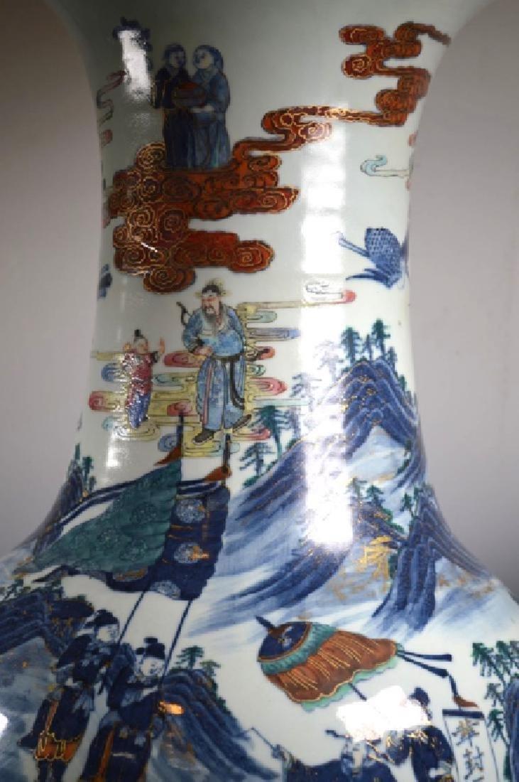 Very Large Chinese 19 C Doucai Porcelain Vase - 8