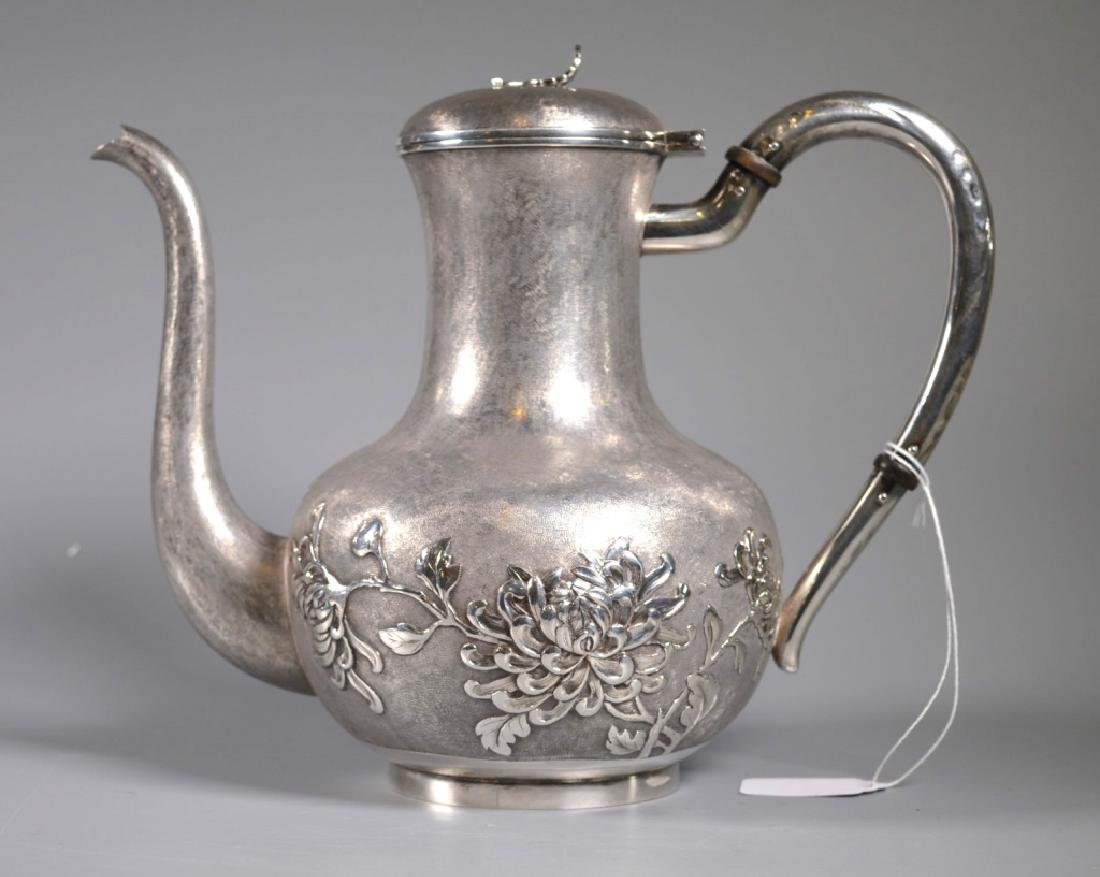 Chinese Heavy Silver Teapot or Waterpot; 1,054G