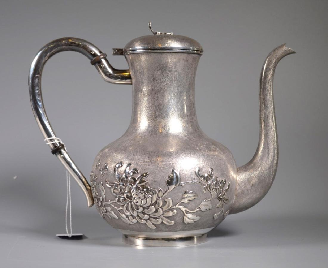 Chinese Heavy Silver Teapot or Waterpot; 1,054G - 2