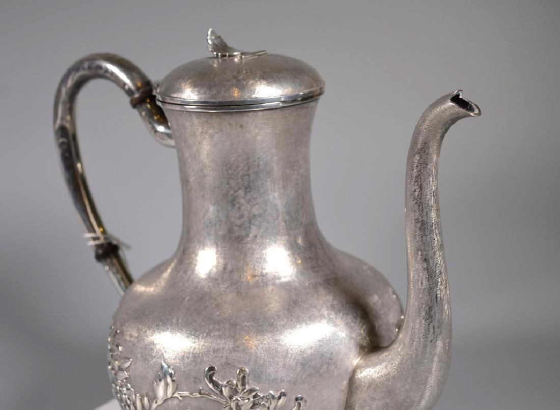 Chinese Heavy Silver Teapot or Waterpot; 1,054G - 4