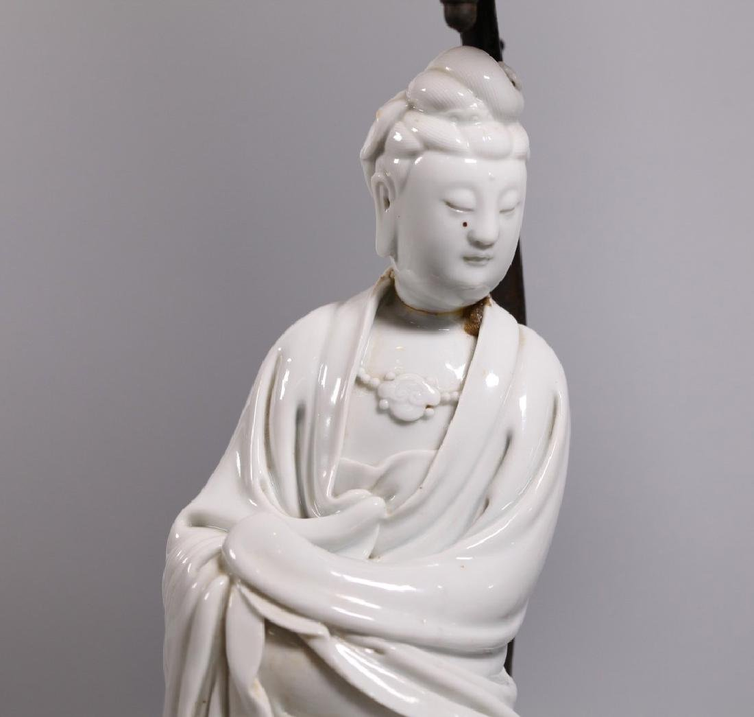Chinese Blanc de Chine Seated Porcelain Guanyin - 4