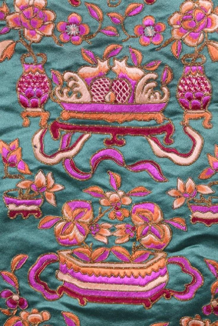 Three Antique Chinese Embroideries Mounted as Mats - 10