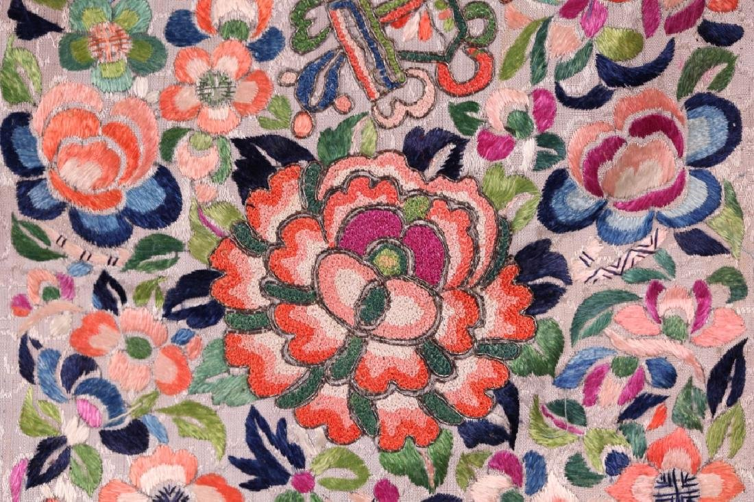 Three Antique Chinese Embroideries Mounted as Mats - 6