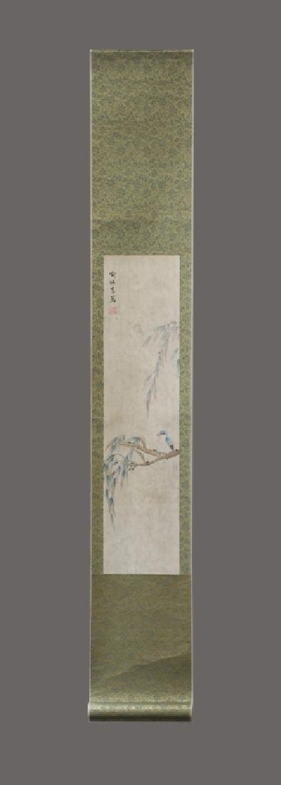 Four Chinese Scrolls; 4 Seasons Birds & Flowers - 4