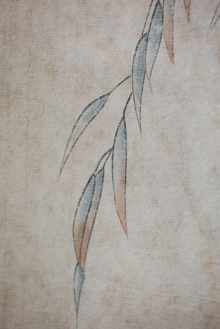 Four Chinese Scrolls; 4 Seasons Birds & Flowers - 7