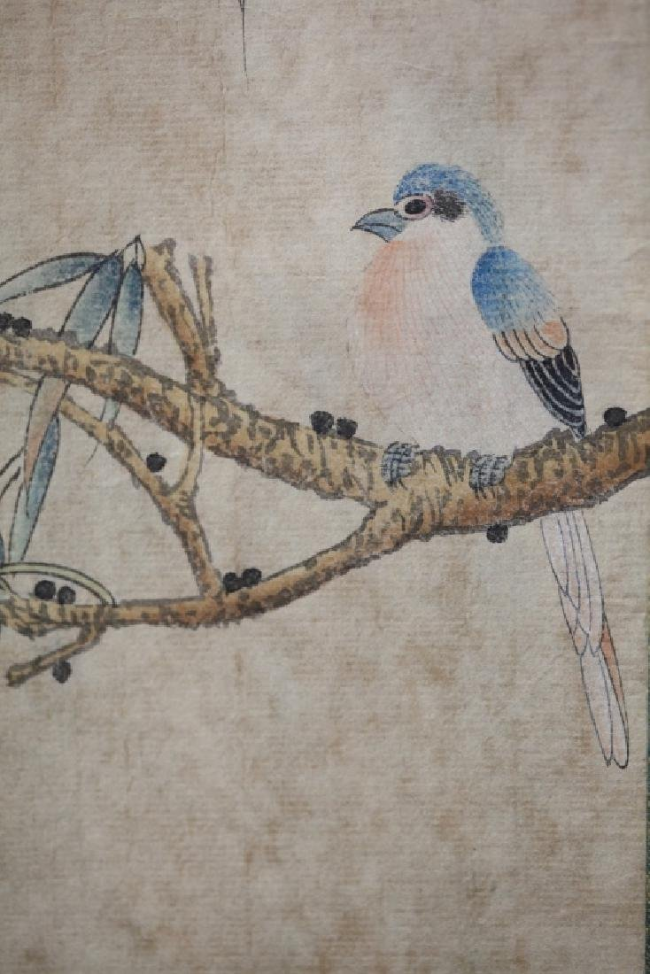 Four Chinese Scrolls; 4 Seasons Birds & Flowers - 8