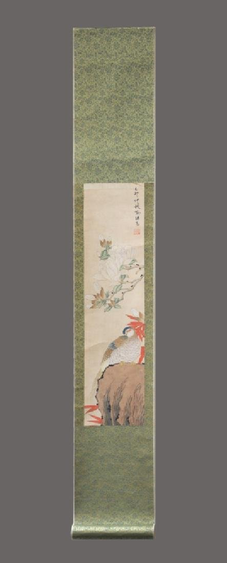 Four Chinese Scrolls; 4 Seasons Birds & Flowers - 9