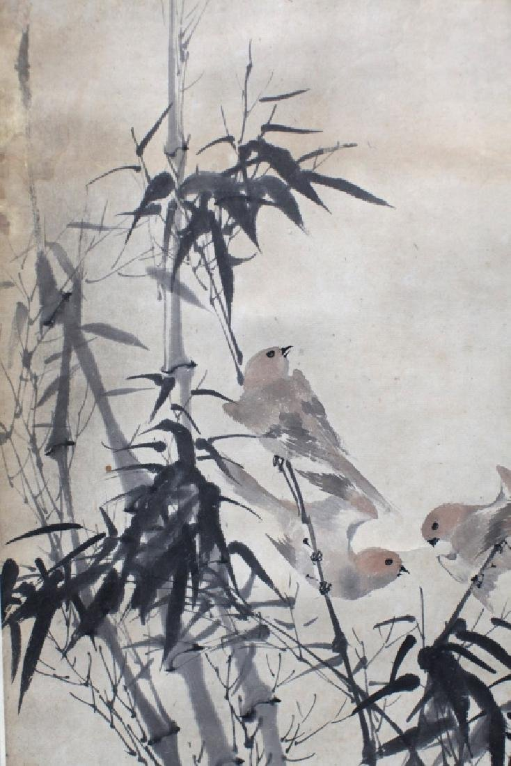 Chinese Ink & Color Painting; Birds & Bamboo - 2