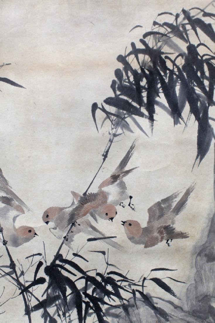 Chinese Ink & Color Painting; Birds & Bamboo - 3