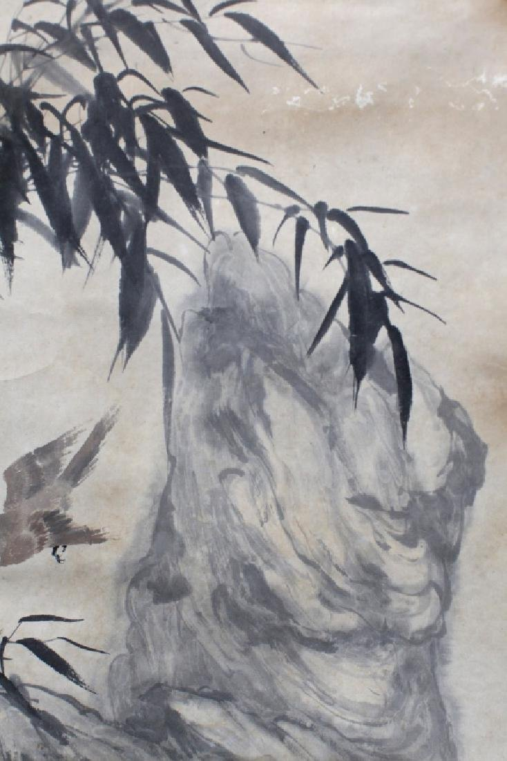 Chinese Ink & Color Painting; Birds & Bamboo - 4