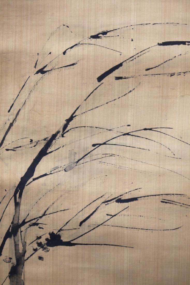 Chinese Ink Painting on Silk; 3 Men Fishing - 5