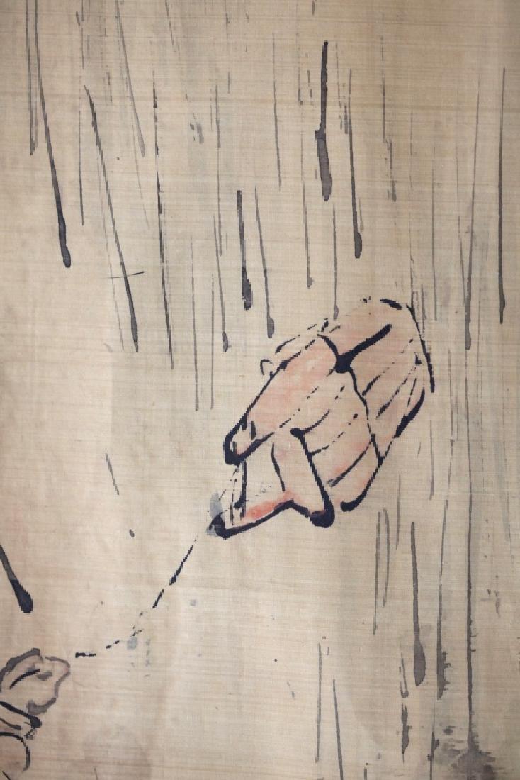 Chinese Ink Painting on Silk; 3 Men Fishing - 7