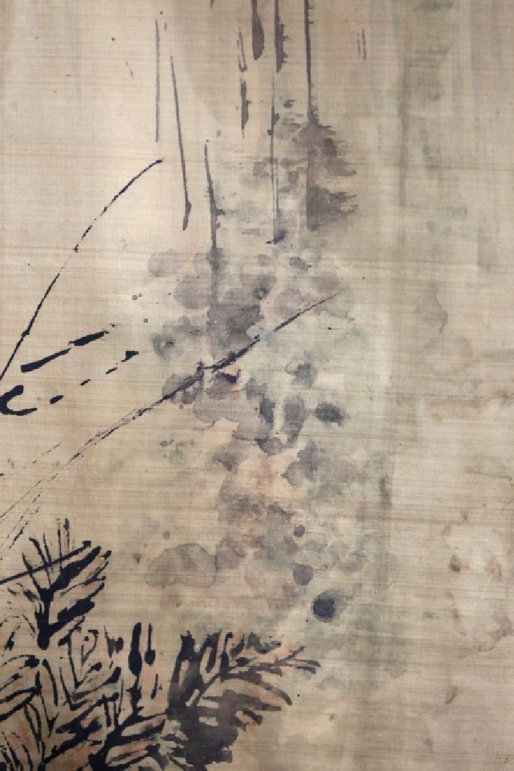 Chinese Ink Painting on Silk; 3 Men Fishing - 8