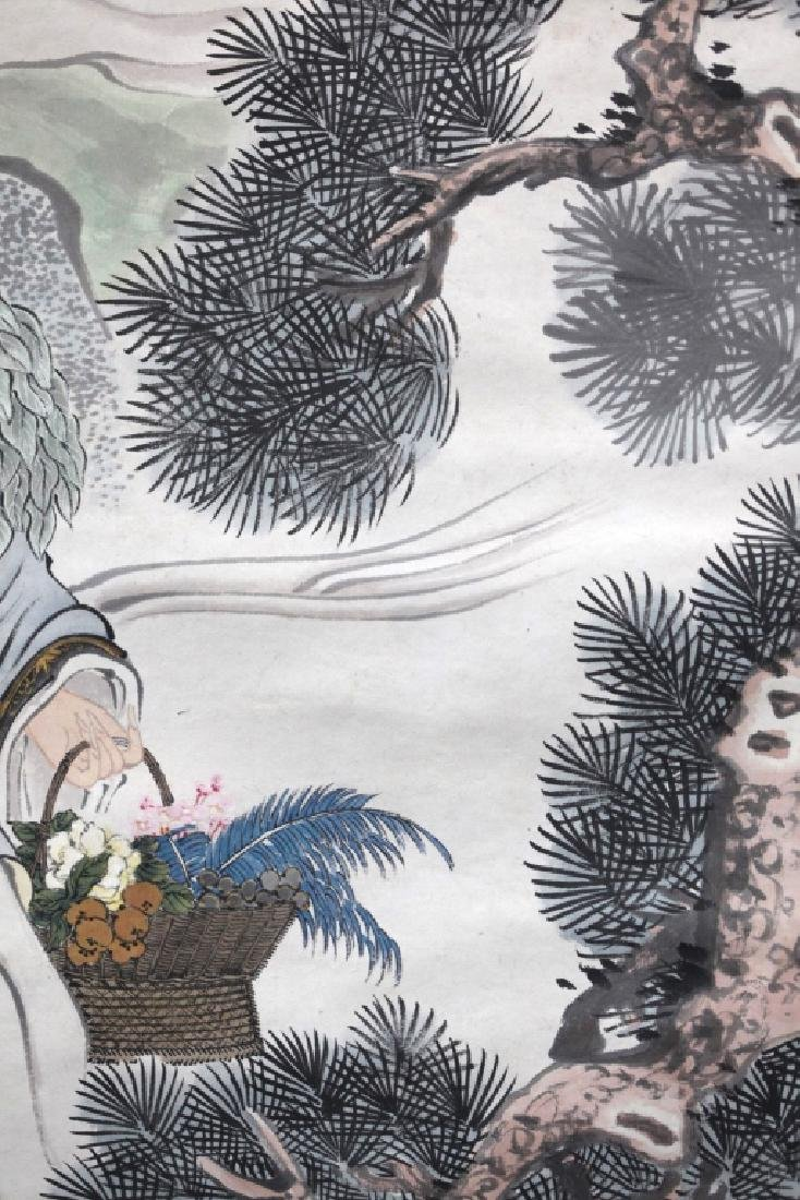 Chinese Ink Painting on Paper; Figures in a Garden - 8