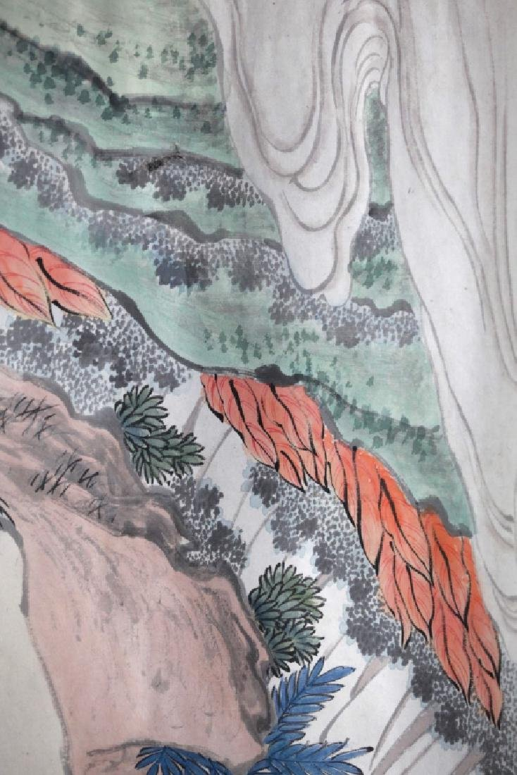 Chinese Ink Painting on Paper; Figures in a Garden - 9