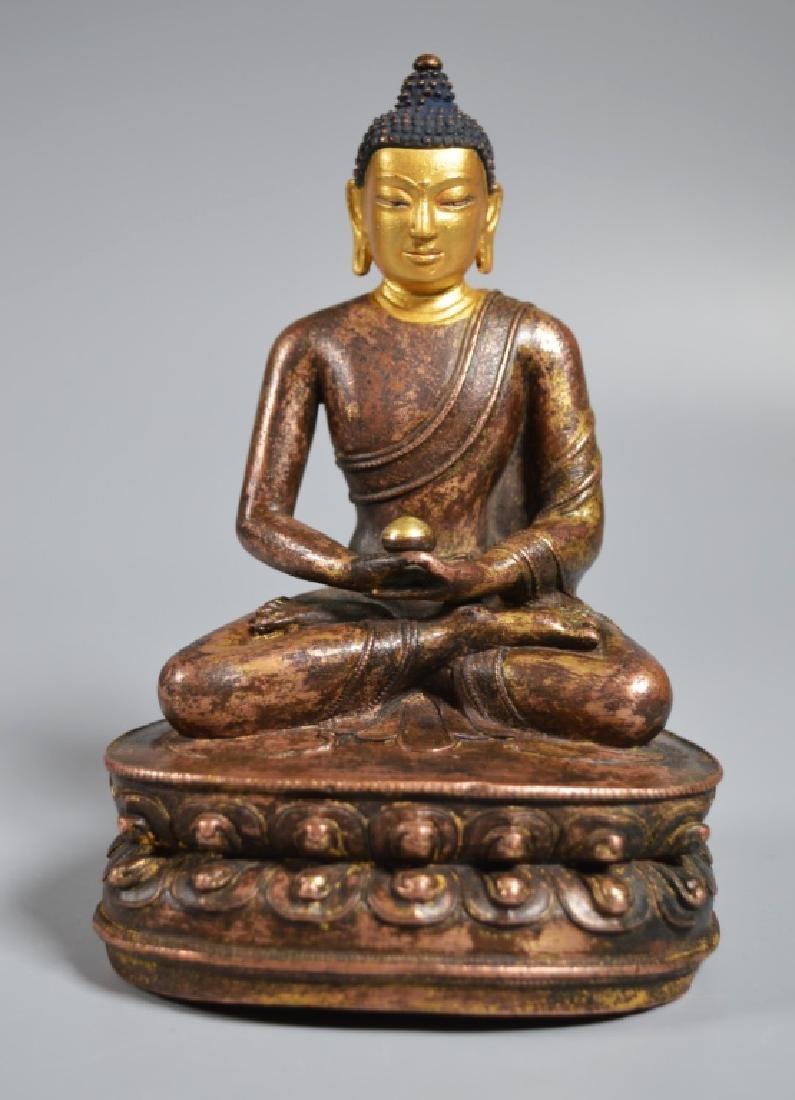 Tibetan 16th Century Bronze Seated Buddha