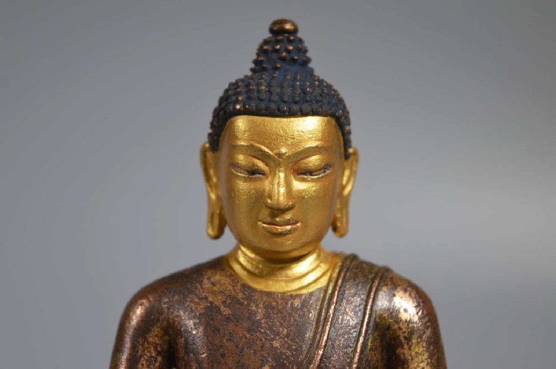 Tibetan 16th Century Bronze Seated Buddha - 2