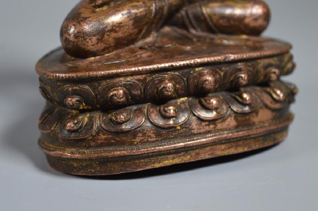 Tibetan 16th Century Bronze Seated Buddha - 5