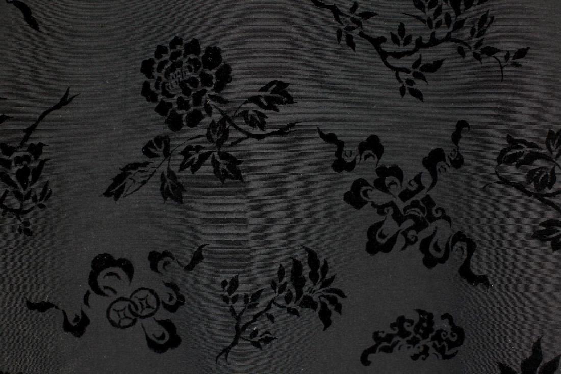 Hong Kong Chinese Mandarin Black Silk Velvet Coat - 8