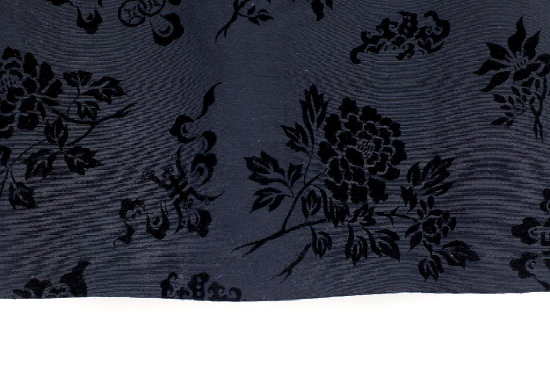 Hong Kong Chinese Mandarin Black Silk Velvet Coat - 9