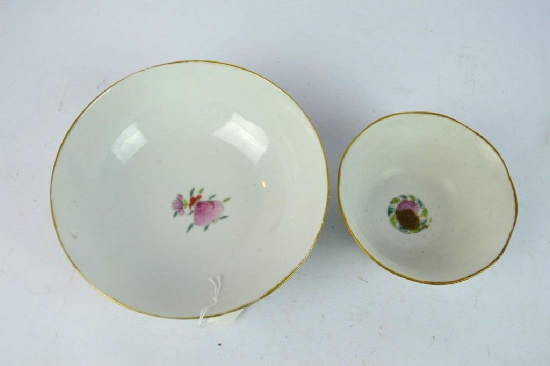 2 19th C Qing Chinese Enameled Porcelain Bowls - 5
