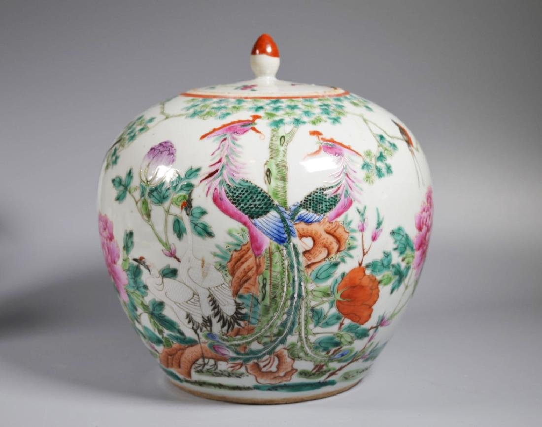 Chinese Qing Dynasty Famille Rose Porcelain Jar