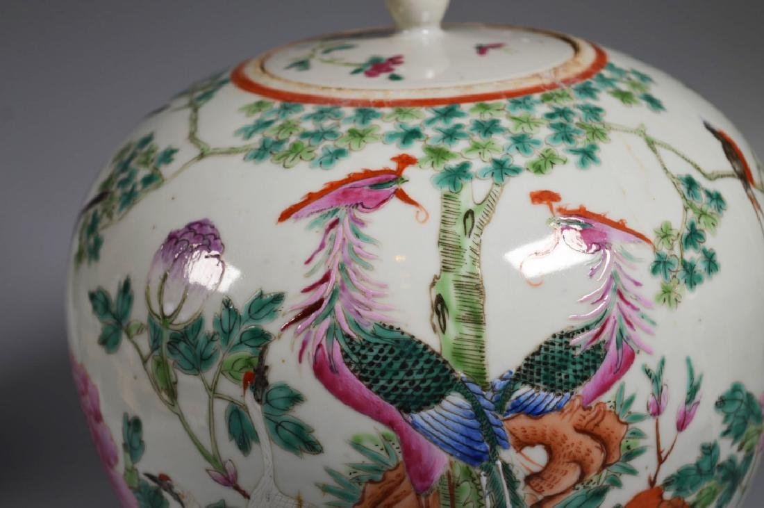 Chinese Qing Dynasty Famille Rose Porcelain Jar - 2
