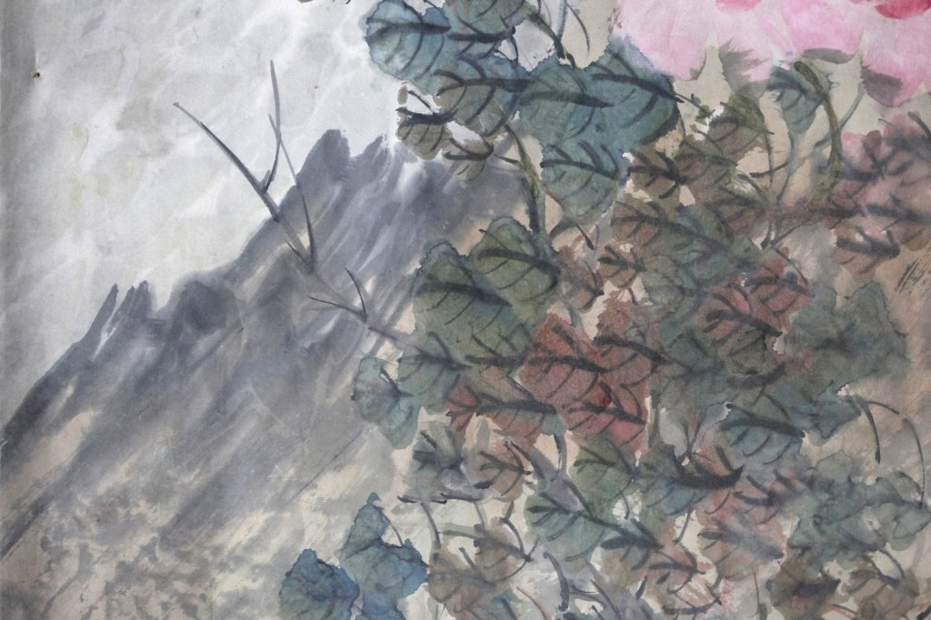 Chinese Painting on Paper; 3 Kittens & Butterflies - 5