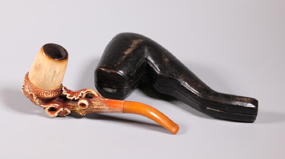 Au Pacha, Paris; 19 C Carved Meerschaum Pipe