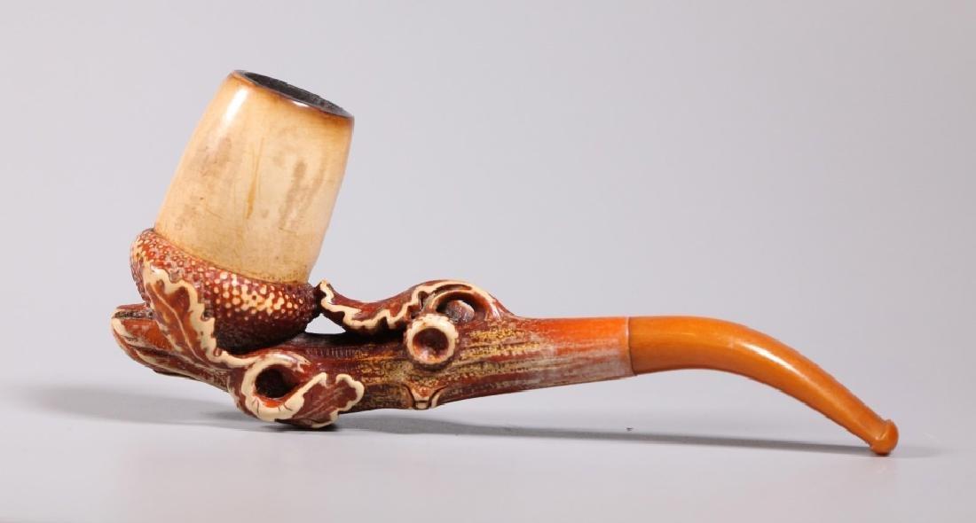 Au Pacha, Paris; 19 C Carved Meerschaum Pipe - 3