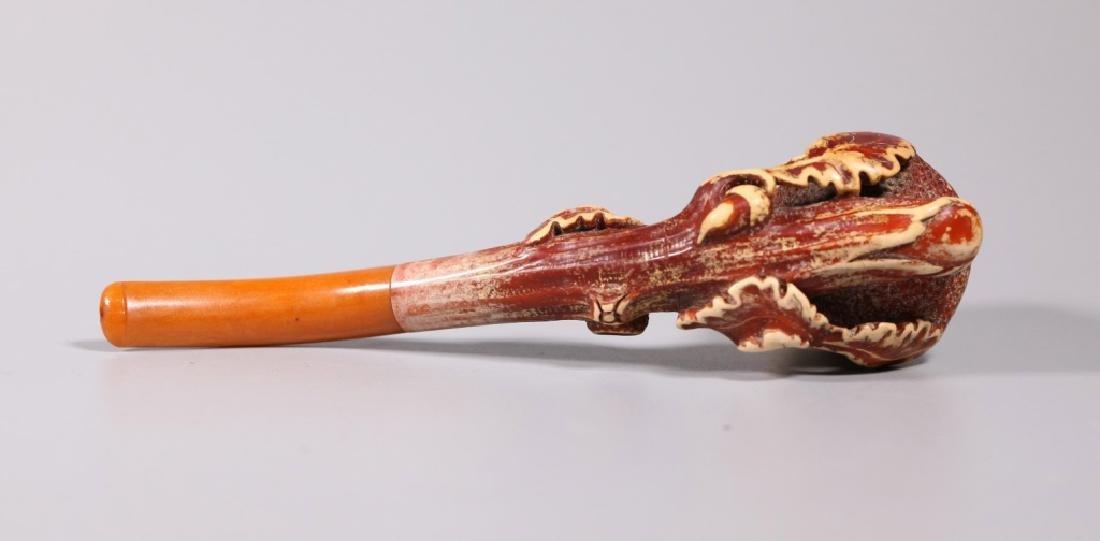 Au Pacha, Paris; 19 C Carved Meerschaum Pipe - 5