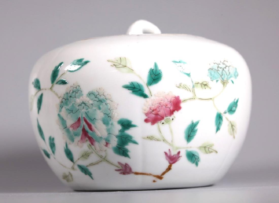 Two 19 C Chinese Porcelain Containers & Covers - 6