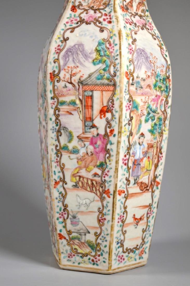 18C Chinese Famille Rose Mandarin Porcelain Vase - 2