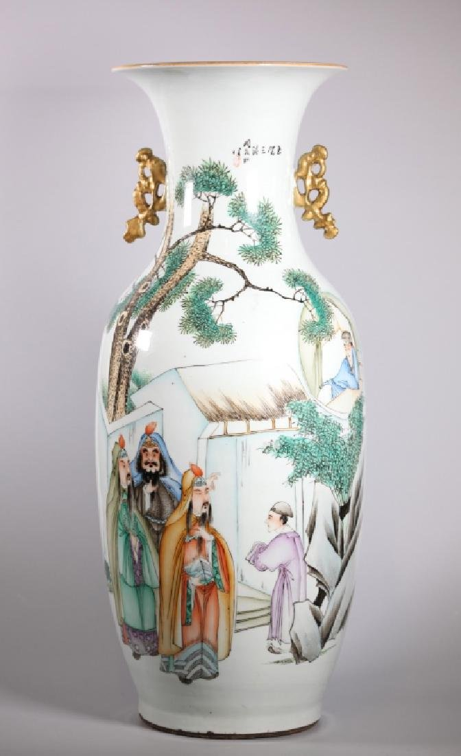 Large Chinese Enameled Porcelain Vase
