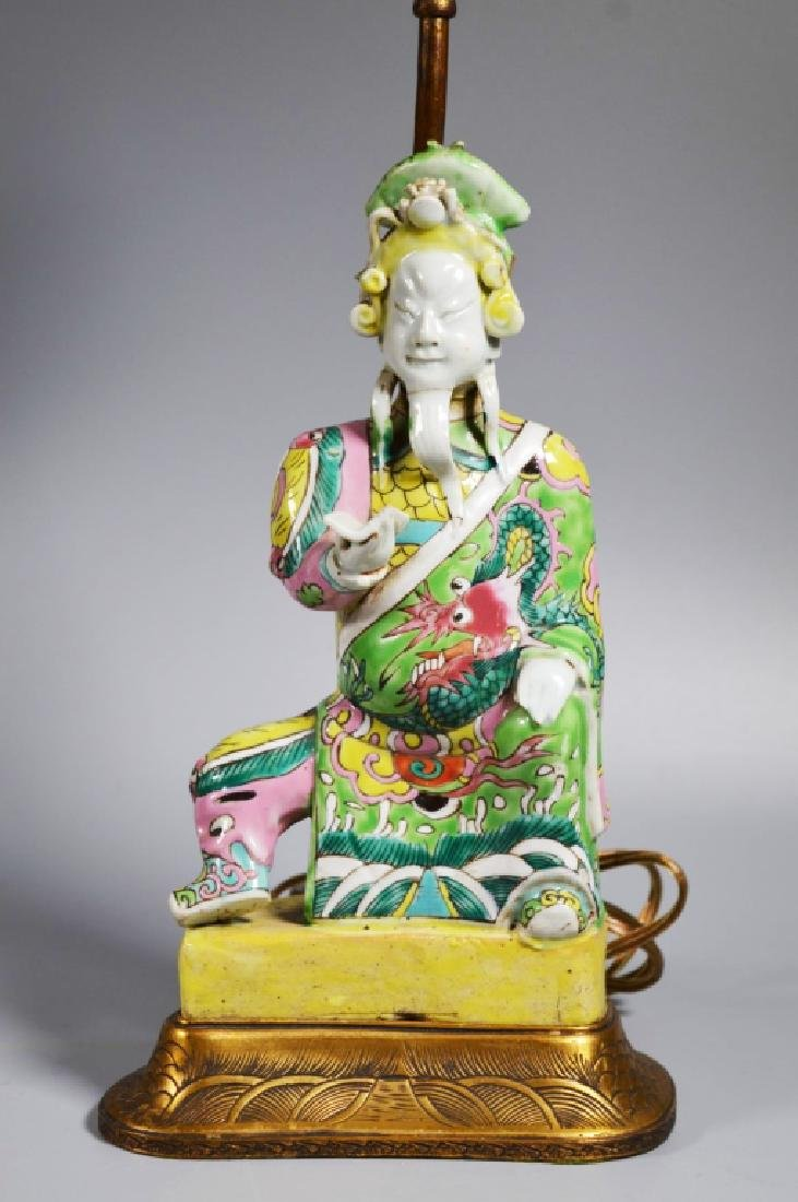 Chinese 18/19 C Famille Rose Porcelain Figure
