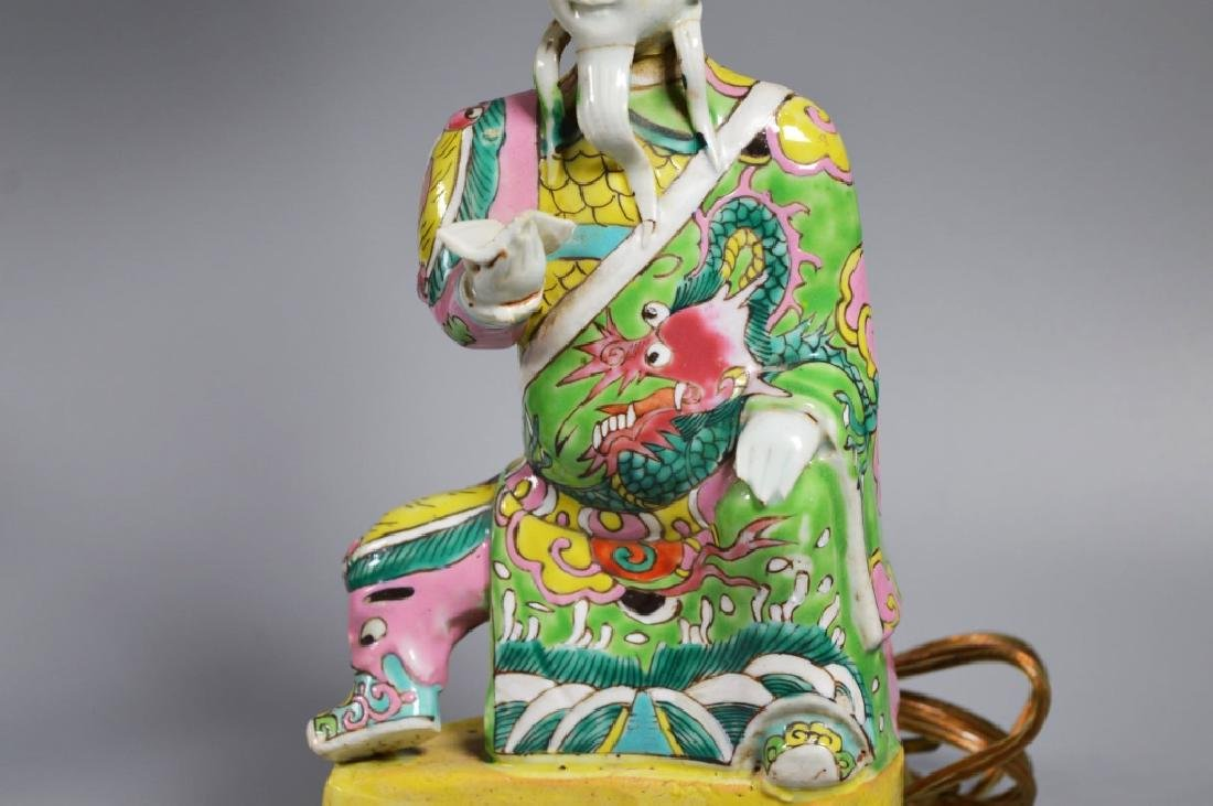 Chinese 18/19 C Famille Rose Porcelain Figure - 3