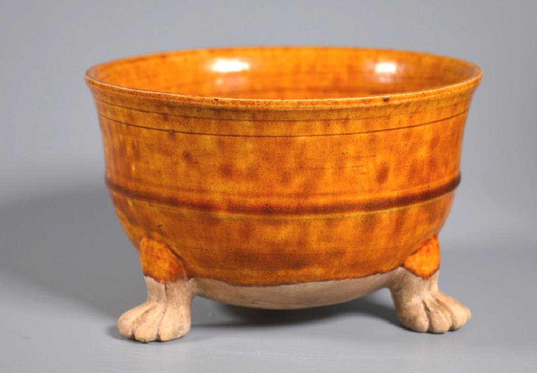 Chinese Changsha Spotted Ewer & Ochre Footed Bowl - 5