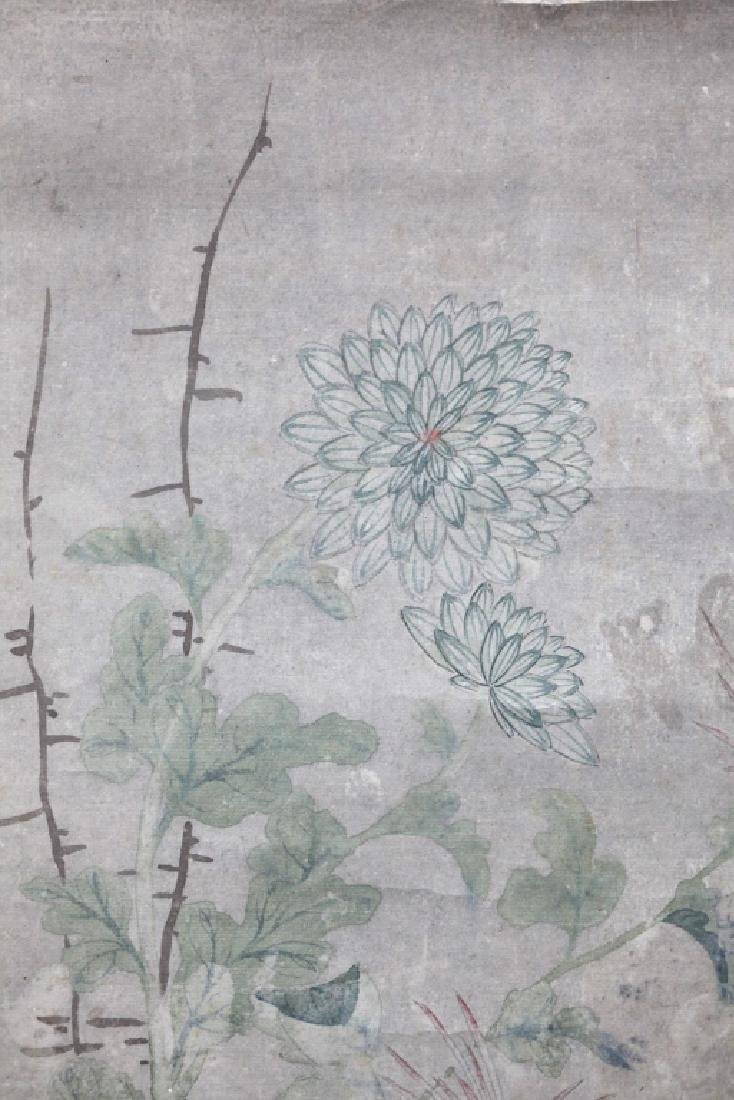 Chinese Painting on Paper; Flowers and Butterflies - 2