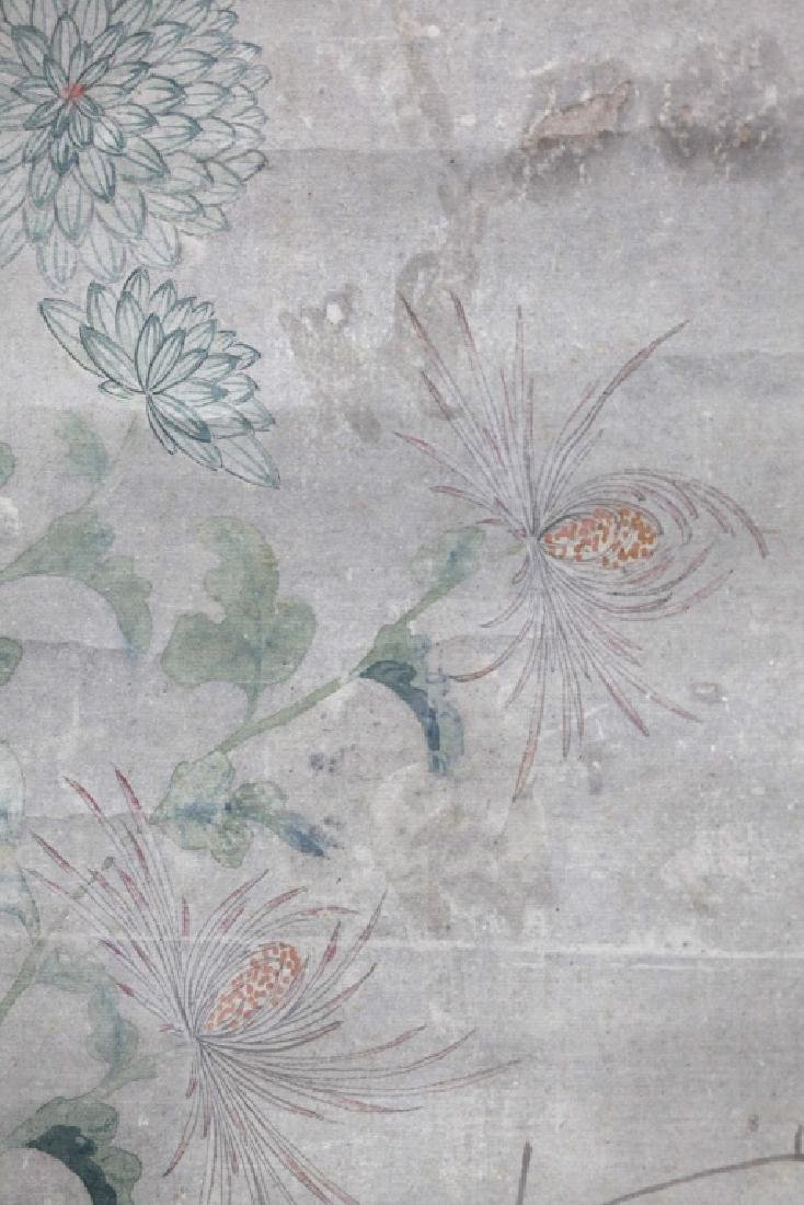 Chinese Painting on Paper; Flowers and Butterflies - 4