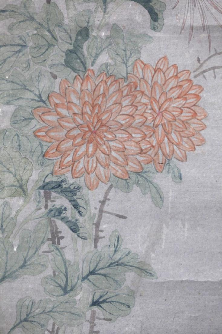 Chinese Painting on Paper; Flowers and Butterflies - 6