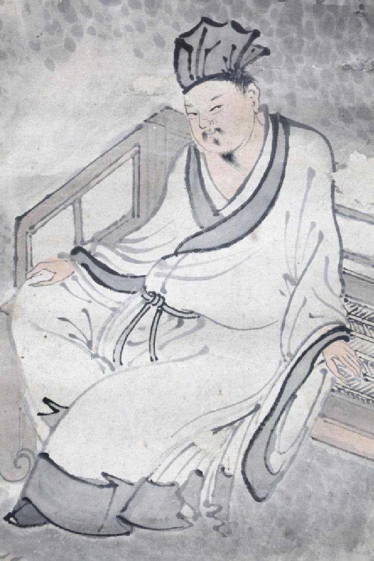 Chinese Painting on Paper; 2 Scholars in a Garden - 8