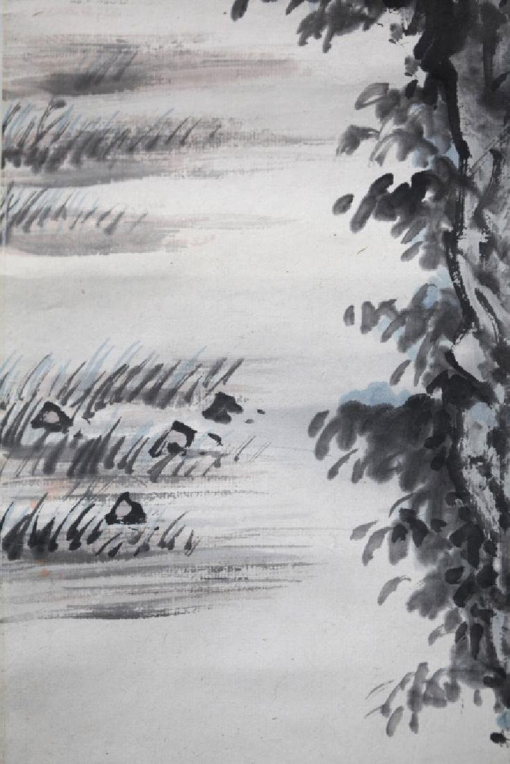 Chinese Ink Painting on Paper; Scholar Views Sky - 4