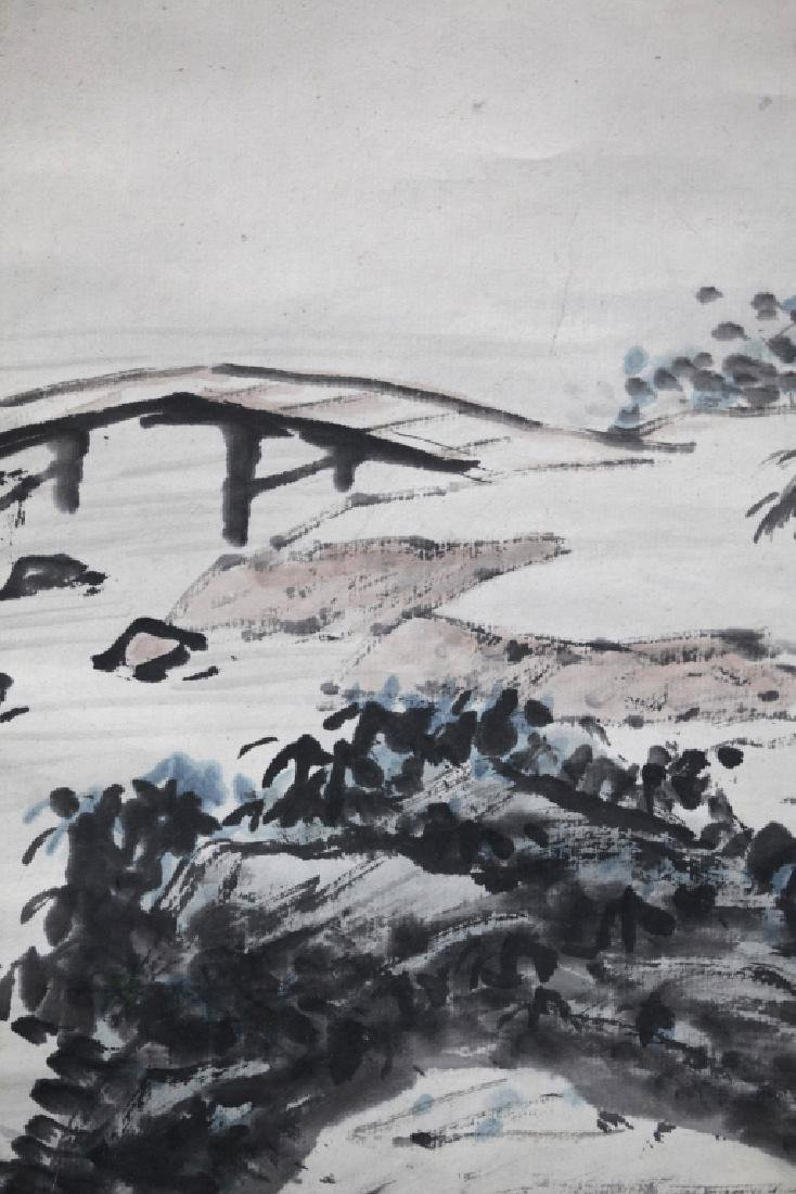 Chinese Ink Painting on Paper; Scholar Views Sky - 5