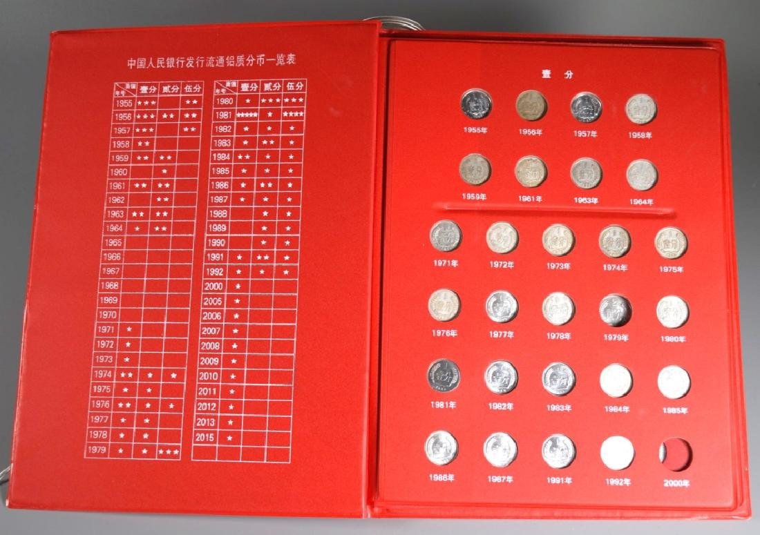 Three Page Coin Book for PRC 1955-2015