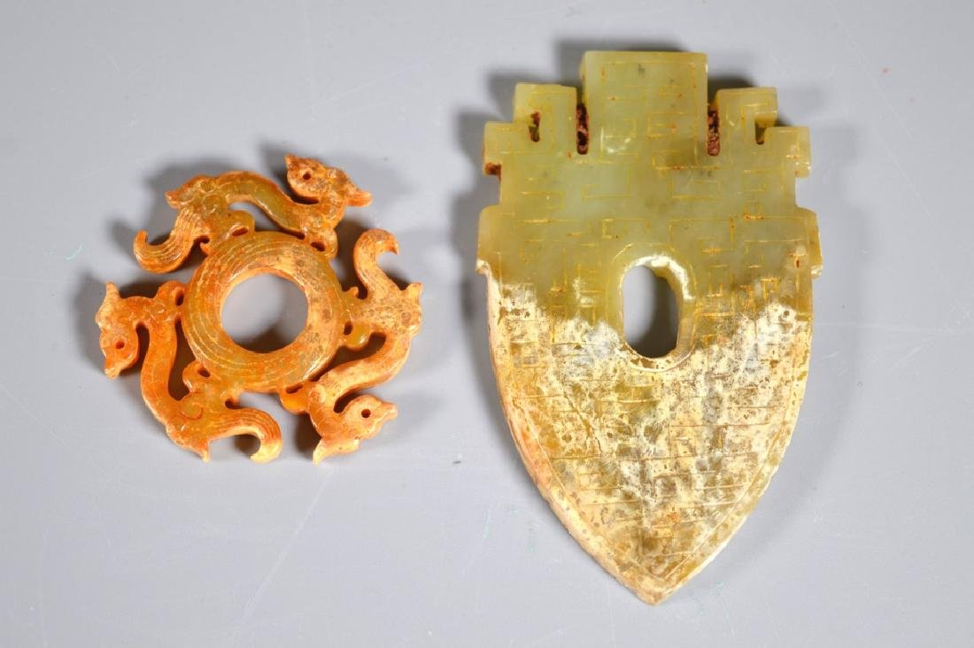 Two Chinese Archaic Jades