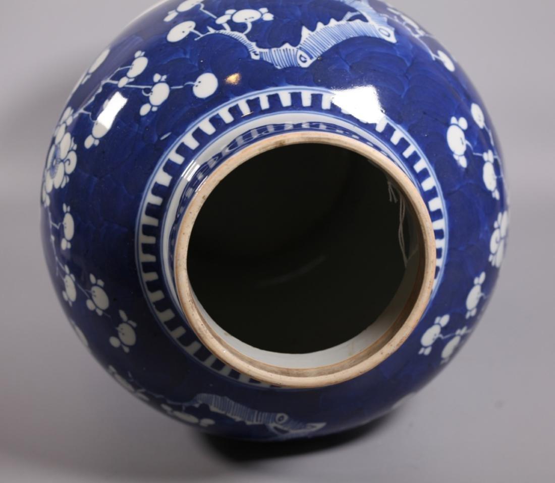 Chinese Qing Dynasty Blue & White Porcelain Jar - 3